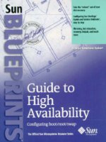 Guide to High Availability: Configuring Boot, Root, Swap Blueprint (Sun Blueprints)
