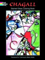Chagall Stained Glass Colouring Book
