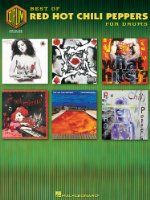 BEST OF RED HOT CHILI PEPPERS FOR DRUMS: Best Of Drum Recorded Versions