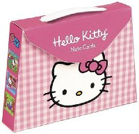 Hello Kitty Pink Gingham Pocketbook Note Cards