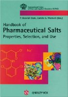 Pharmaceutical Salts: Properties, Selection, and Use (International Union of Pure and Applied Chemistry)