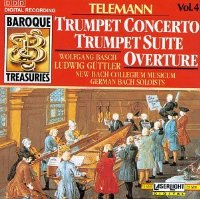 Baroque Treasuries 4: Telemann Trumpet Cto