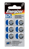 Energizer 675 Hearing aid batteries, pack of 6