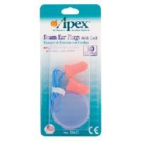 Soft Foam Ear Plugs with Cord By Apex Healthcare