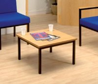 Trexus Reception Coffee Table Traditional Metal and Wooden Top W610xD610xH385mm Light Oak