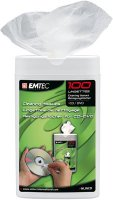 Emtec EKNLINCD Wet Wipe Dispenser For CD/DVD - 100 wipes