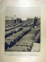 1905 Bomb-Shells Japanese Port-Arthur War French Print