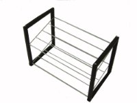 H & L Russel Shoe Rack 2 Level/5 Bar Stackable, Leatherette, 38 x 55 x 29.5 cm
