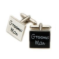 Groomsman Black Square Wedding Cufflinks - SSBC