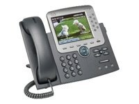 Cisco Unified IP Phone 7975G - VoIP phone - SCCP, SIP - silver, dark grey - with 1 x user licence