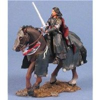 Aragorn in Gondorian armor on horse armies of middle earth (Lord of the Rings)
