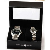 Beverly Hills Polo Club His-&-Hers Watch Set in a Presentation Box