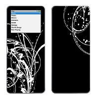 Contrasted whirls - Lapjacks decorative vinyl skin for Apple iPod nano 1st generation