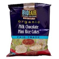 BioFair Organic Milk Chocolate Mini Rice Cakes Fair Trade 60g
