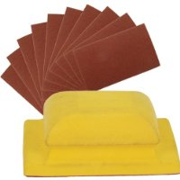 Silverline 457067 Sanding Block with Assorted Sheets