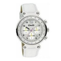 D&G DW0305 'Rhythm' Silver Dial White Strap Watch
