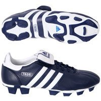 adidas 7406 Firm Ground Football Boots - Blue/White - UK Size 8