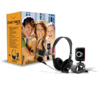 Canyon Chat Pack with 300K webcam + headset with microphone,Black & Orange