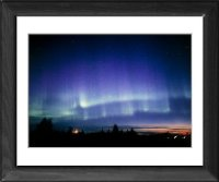 Framed Print of View of a colourful aurora borealis display from Science Photo Library
