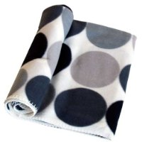 Country Club Ikon Fleece Throw Grey Circles 150 x 200cm