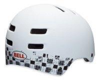 Bell Faction Matt White Plaid Medium Helmet