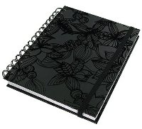 Paperchase A5 Notebook. Raspberry Flock Design