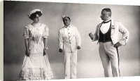 Box Canvas Print of Florence Jameson, Reginald Switz and Alfred clarke in a scene from The from Heritage-Images
