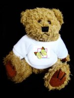 Teddy Bear with butterfly image t-shirt