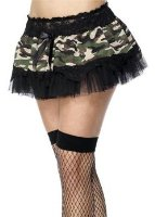 Smiffy's Camouflage Tutu with Lace and Ribbon Trim