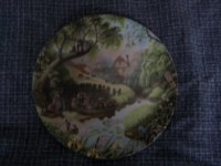 The Old Mill Stream plate by Robert Hersey - The Tale of a Country Village series.