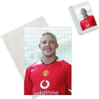 Photo Jigsaw Puzzle of Alan Smith in the new Manchester United kit from Manchester United