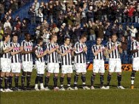 Prints of A minutes applause for Jimmy Dugdale from West Bromwich Albion