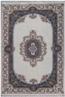 Indian Mahal Handknotted Cream Rugs MAH020