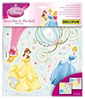 Decofun, Disney Princess Glow in the Dark Wall Stickers