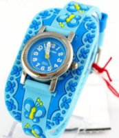 Jacques Farel Kids watch with rubber wristband - Butterfly