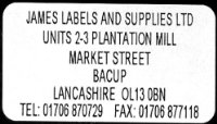 520 white Personalised Printed Mini Adhesive Address Labels