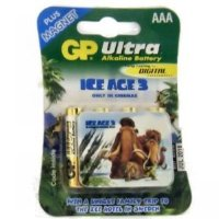 GP 4 x AAA Ultra Alkaline Batteries Plus Free ICE AGE 3 Dawn Of The Dinosaurs Collectable FRIDGE MAGNET (8 Designs Available)