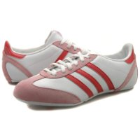 Womens Adidas Ulama White Pink Leather Trainers