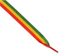 Laces - Rasta (Red/Yellow/Green) Wide Laces - 12005