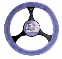Car Steering Wheel Cover Lilac Furry