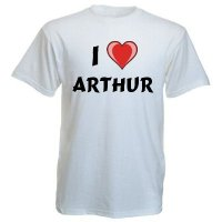 Cotton T-Shirt With I Love Arthur