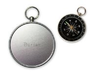 Small Compass - Engraved Name On The Back: Burian