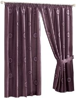 Dreams 'n' Drapes Horizon Aubergine Vacuum Packed Filled Cushion