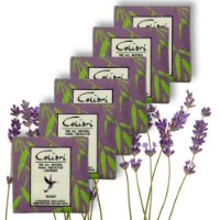 5 MOTH REPELLENT SACHETS WITH LAVENDER - for Drawers, Cupboards etc.