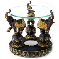 Crackled Glass Elephant Oil Burner