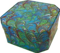 Peacock Marble Cut Corner - EX LARGE Cake Tin