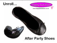 Happy Feet - after party shoes - Black Medium