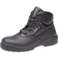 Capps LH415 Non Metallic Unisex Black Leather Safety Chukka Boots With Composite Toe Caps
