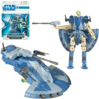 Star Wars Transformers Battle Droid To AAT [Toy]
