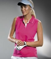 Kustom Kit Gamegear Ladies Proactive Sleeveless Pique Polo Shirt